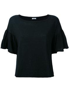 футболка с рюшами на рукавах P.A.R.O.S.H.