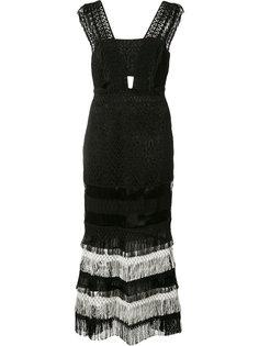 платье с бахромой Jonathan Simkhai