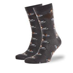 Носки средние Запорожец Утки Темно-серые