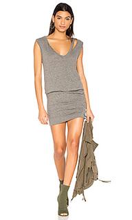 Slash neck ruched dress - Pam & Gela