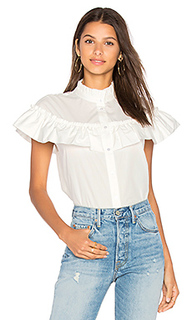 Ruffle poplin button up - BLAQUE LABEL