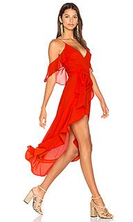 Платье из жоржета с запахом - NICHOLAS