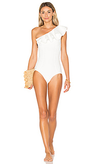 Arden double ruffle one piece - Lisa Marie Fernandez