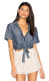 Рубашка на пуговицах с завязкой спереди sarai - CHARLI
