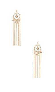 Circle charm tassel earring - Ettika