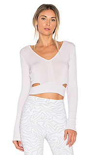 Aura crop long sleeve top - alo