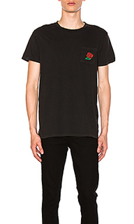 Футболка с карманом wild rose - ROLLAS