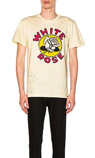 X zoe vance white rose tee - CLOT