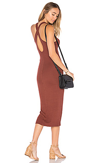 Rib crossback midi dress - Enza Costa