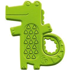 Погремушка-прорезыватель Крокодильчик, Fisher Price Mattel