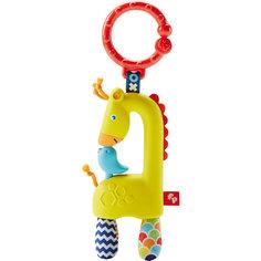 Погремушка-прорезыватель Жираф, Fisher Price Mattel
