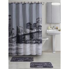 """Набор из 3-х предметов для ванной комнаты """"Бруклинский мост"""" SET3-BROOKLYN, Рыжий кот"""