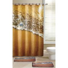 """Набор из 3-х предметов для ванной комнаты """"Морской прибой"""" SET3- COAST, Рыжий кот"""