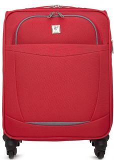 Красный текстильный чемодан на колесах Verage
