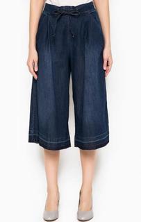 Широкие джинсовые капри Fornarina