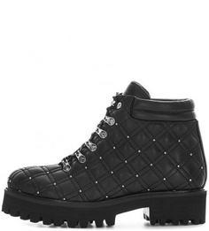 Кожаные ботинки на каблуке и платформе Massimo Santini