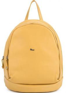 Желтый кожаный рюкзак с двумя отделами Bruno Rossi