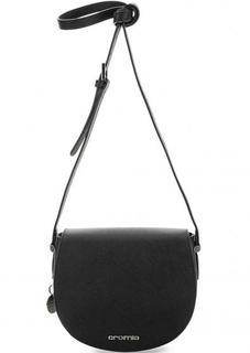 Черная сумка из сафьяновой кожи через плечо Cromia