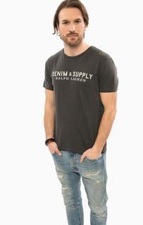 Серая футболка с круглым вырезом D&S Ralph Lauren