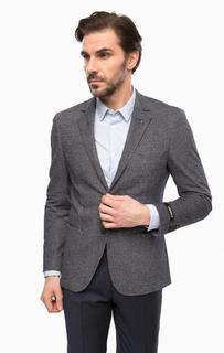 Синий пиджак с запонкой для лацкана Lagerfeld
