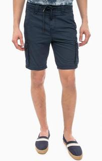 Синие шорты из хлопка с карманами Tom Tailor Denim