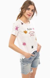 Белая футболка с контрастным принтом Scotch&Soda