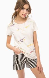 Хлопковая футболка с вышивкой Scotch&Soda