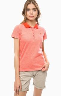 Хлопковая футболка поло кораллового цвета Lerros