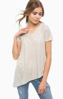 Базовая футболка с треугольным вырезом Tom Tailor Denim