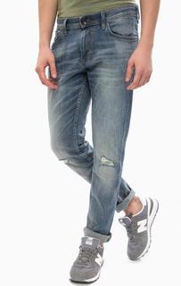 Синие зауженные джинсы с пятью карманами Tom Tailor Denim