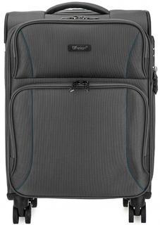Серый чемодан на колесах с кодовым замком Verage