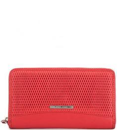 Красный кошелек из фактурной кожи Gianni Conti