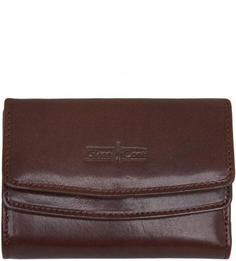 Коричневое портмоне из натуральной кожи Gianni Conti