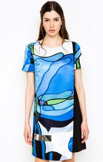 Короткое платье асимметричного кроя Iceberg