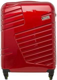 Красный пластиковый чемодан на колесах Verage