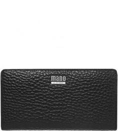 Черный кошелек из натуральной кожи Mano
