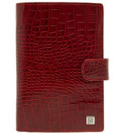 Портмоне из натуральной кожи красного цвета Sergio Belotti