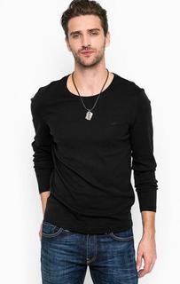 Черная футболка с длинными рукавами Mustang