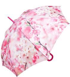 Розовый зонт-трость с цветочным принтом Zest