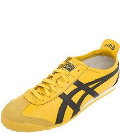 Кожаные кроссовки желтого цвета Onitsuka Tiger
