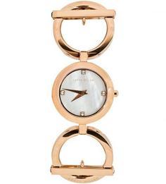 Часы с металлическим браслетом золотистого цвета Karen Millen