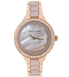 Часы с циферблатом перламутрово-серого цвета Anne Klein