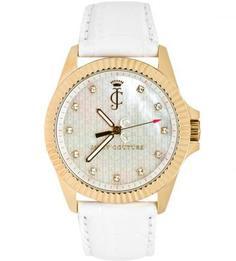 Часы курглой формы с отделкой кристаллами Juicy Couture