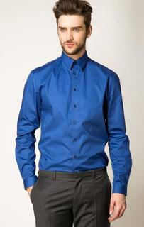 Синяя рубашка с длинными рукавами Drykorn