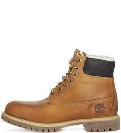 Высокие ботинки из нубука Timberland