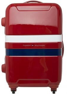 Красный чемодан на колесах с кодовым замком Tommy Hilfiger