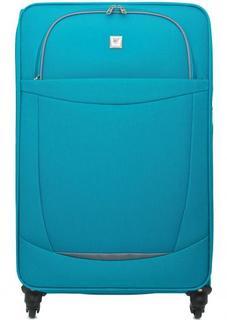 Бирюзовый текстильный чемодан на колесах Verage
