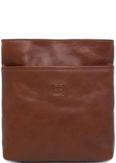 Маленькая коричневая сумка из натуральной кожи Sergio Belotti