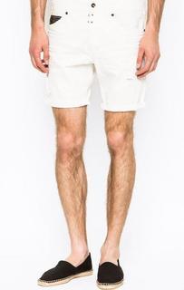 Короткие шорты белого цвета Replay