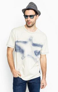 Бежевая футболка с короткими рукавами Armani Jeans